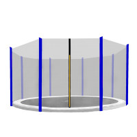 AGA ochranná sieť na trampolínu s celkovým priemerom 366 cm na 8 tyčí - Modrá