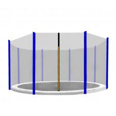 AGA ochranná sieť na trampolínu s celkovým priemerom 366 cm na 8 tyčí - Modrá Preview