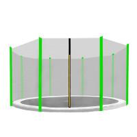 AGA ochranná sieť na trampolínu s celkovým priemerom 366 cm na 8 tyčí - Svetlozelená