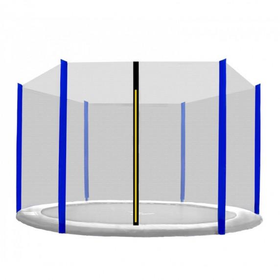 Ochranná sieť na trampolínu s celkovým priemerom 305 cm na 6 tyčí SPARTAN - modré