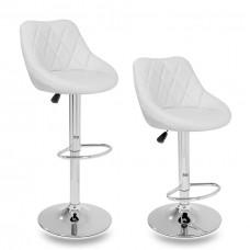Aga Barová stolička 2 kusy MR2000WHITE - Biela Preview