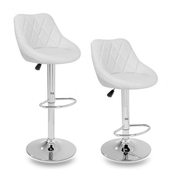 Aga Barová stolička 2 kusy MR2000WHITE - Biela