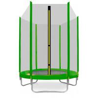 AGA SPORT TOP trampolína 150 cm s vonkajšou ochrannou sieťou svetlozelená