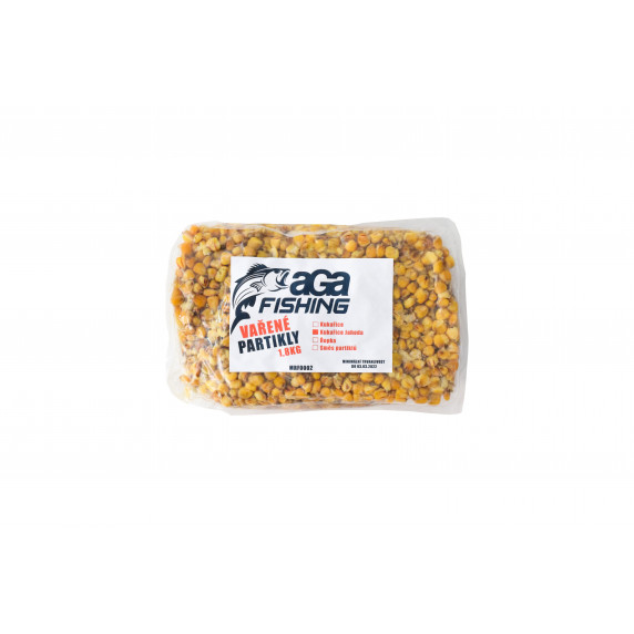 Varený partikel Kukurica 1,8 kg AGA Fishing - jahodová príchuť