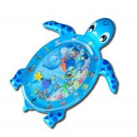 Detská nafukovacia vodná podložka MRWM05 Aga4Kids - korytnačka modrá