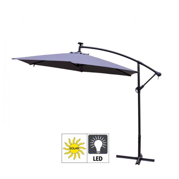 AGA záhradný konzolový slnečník EXCLUSIV LED 300 cm Dark Grey