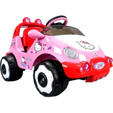 Injusa Elektrické autíčko RACING CAR HELLO KITTY 6V Preview