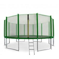 AGA SPORT PRO Trampolína 460 cm Green s vonkajšou ochrannou sieťou + rebrík + vrecko na obuv Preview