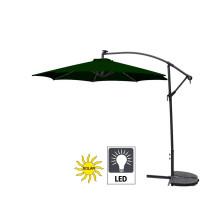 Záhradný slnečník konzolový LINDER EXCLUSIV 300 cm LED MC2005 Led Green