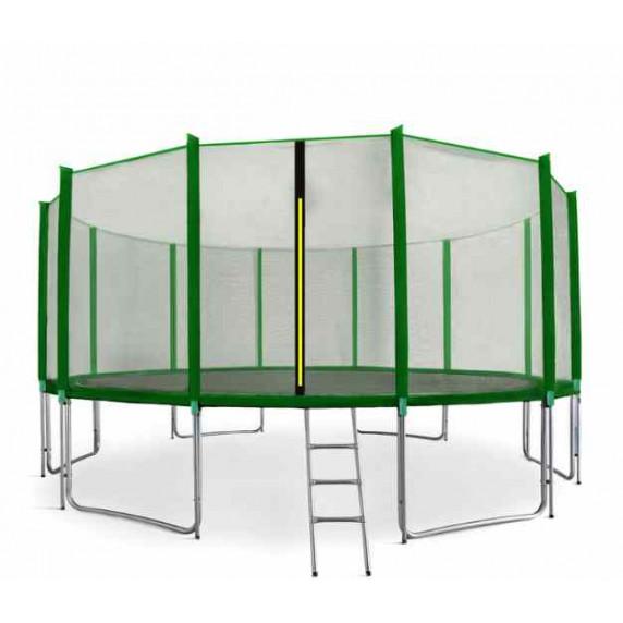 AGA SPORT PRO Trampolína 518 cm Green s ochrannou sieťou