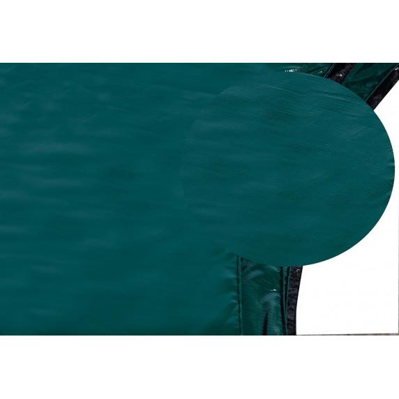 Kryt pružín na trampolínu s celkovým priemerom 430 cm - tmavozelený