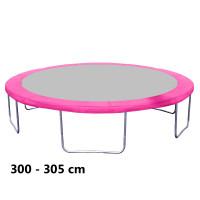 Kryt pružín na trampolínu  s celkovým priemerom 305 cm - ružový