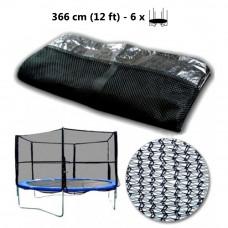 AGA ochranná sieť na trampolínu s celkovým priemerom 366 cm na 6 tyčí