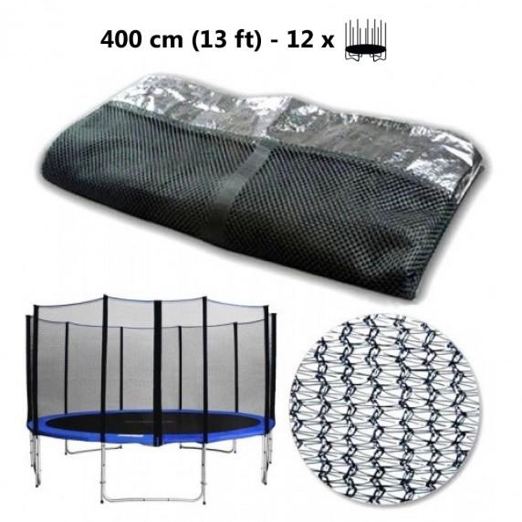 Ochranná sieť na trampolínu s celkovým priemerom 400 cm na 12 tyčí AGA