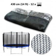 AGA ochranná sieť na trampolínu s celkovým priemerom 430 cm na 12 tyčí Preview