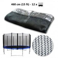 AGA ochranná sieť na trampolínu s celkovým priemerom 460 cm na 12 tyčí Preview