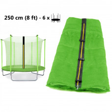 Vnútorná ochranná sieť na trampolínu s celkovým priemerom 250 cm na 6 tyčí AGA svetlozelený Preview