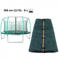 AGA vnútorná ochranná sieť na trampolínu s celkovým priemerom 366 cm na 8 tyčí (kruh) - tmavozelená  Preview