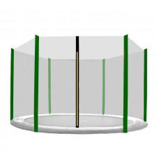 AGA ochranná sieť na trampolínu s celkovým priemerom 250 cm na 6 tyčí - Tmavozelená Preview