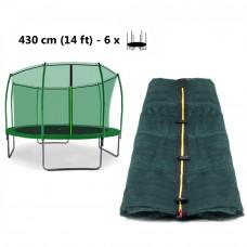 AGA vnútorná ochranná sieť na trampolínu 430 cm na 6 tyčí - tmavozelená Preview