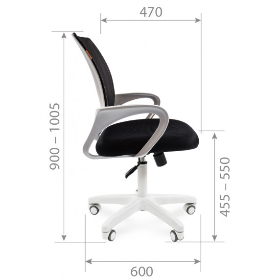 Kancelárske kreslo Chairman 7014835 - Čierne