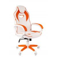 Chairman gamer kreslo Game-16 - Bielo/oranžové