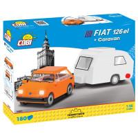 COBI 24591 Poľský Fiat 126 s karavanom