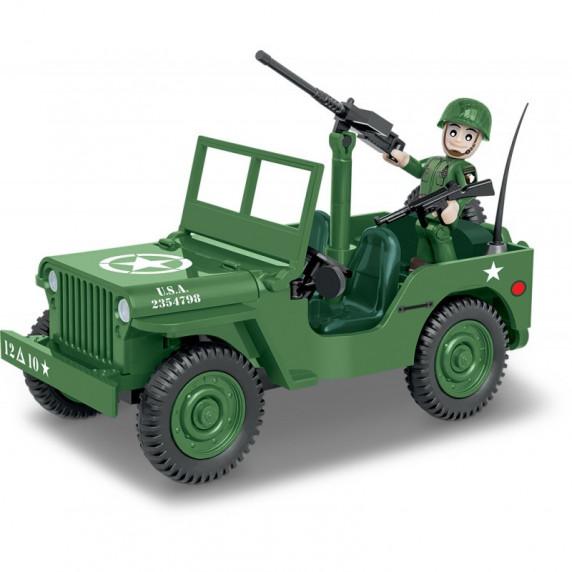 COBI 2399 SMALL ARMY World War II Americký terénny automobil Willys MB 1/4