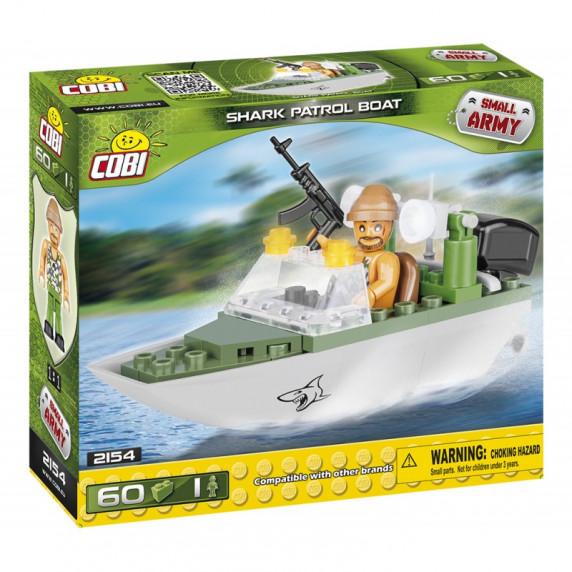 COBI 2154 Small Army Hliadkovací čln Shark 60 ks