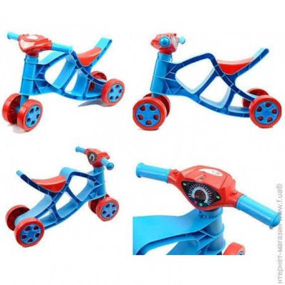 Detské odrážadlo motorka so zvukovými efektmi Inlea4Fun - červené/modré