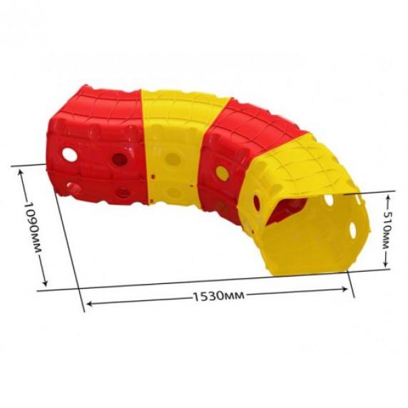 Hrací tunel 153 x 109 x 51 cm Inlea4Fun - žltý/červený