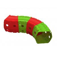 Hrací tunel 153 x 109 x 51 cm Inlea4Fun - červený/zelený