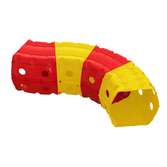 Šmykľavka s tunelom Inlea4Fun - žltá/červená