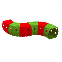 Hrací tunel 240 x 151 x 51 cm Inlea4Fun - červený/zelený