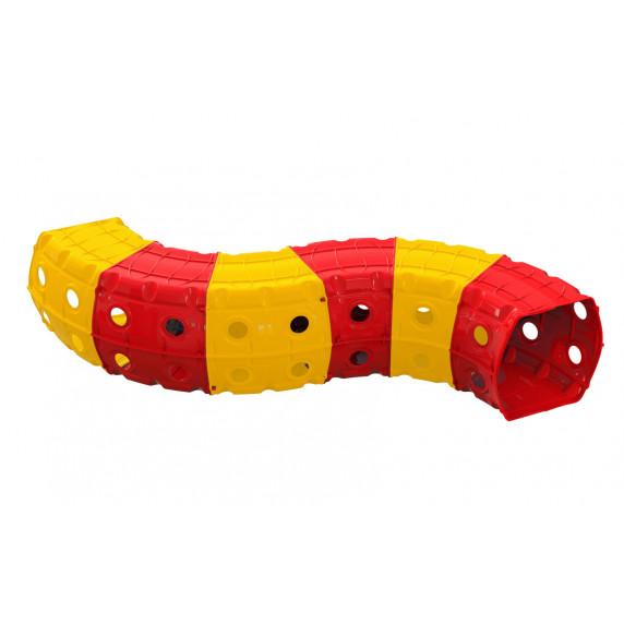 Hrací tunel 240 x 151 x 51 cm Inlea4Fun - žltý/červený