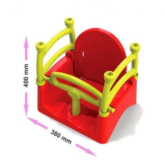 Detská hojdačka ohrádková 3 v 1 Inlea4Fun  - červená