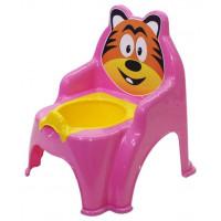Detský nočník v tvare stoličky Tiger Inlea4Fun - ružový