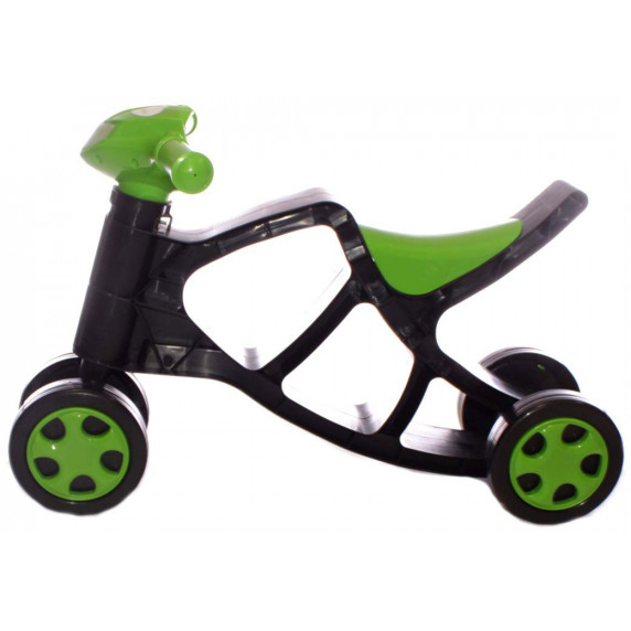 Detské odrážadlo motorka Inlea4Fun - čierne/zelené