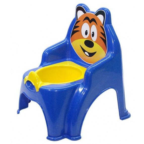 Detský nočník v tvare stoličky Tiger Inlea4Fun - modrý