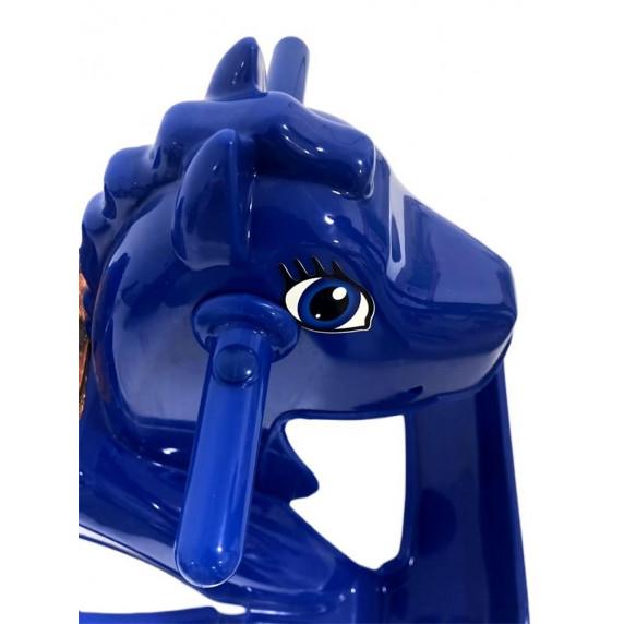 Hojdací koník plastový Inlea4Fun - modrý