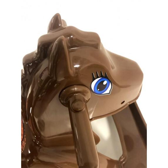 Hojdací koník plastový Inlea4Fun - hnedý