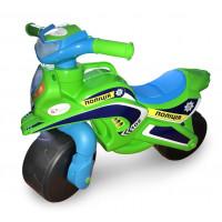 Detské odrážadlo motorka Inlea4Fun POLICE - zelené/modré