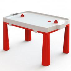 Umelohmotný stolík pre deti so vzdušným hokejom Inlea4Fun EMMA - červený Preview