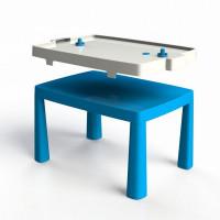 Umelohmotný stolík pre deti so vzdušným hokejom Inlea4Fun EMMA - modrý
