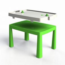 Umelohmotný stolík pre deti so vzdušným hokejom Inlea4Fun EMMA - zelený Preview