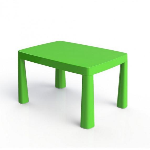 Umelohmotný stolík pre deti so vzdušným hokejom Inlea4Fun EMMA - zelený