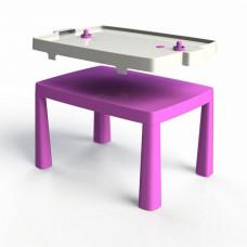 Umelohmotný stolík pre deti so vzdušným hokejom Inlea4Fun EMMA - ružový Preview