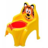 Detský nočník v tvare stoličky Tiger Inlea4Fun - žltý