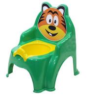 Detský nočník v tvare stoličky Tiger Inlea4Fun - zelený