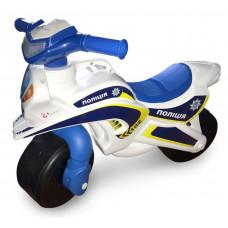 Detské odrážadlo motorka Inlea4Fun POLICE - biele/modré Preview
